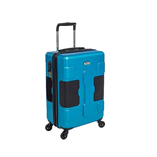 TACH V3 Hard Shell Carry On Luggage 22x14x9 | Carry on Luggage with Spinner Wheels & Patented Built-in Connecting System | One Piece Rolling Suitcase Links 6 Bags at Once - in Blue