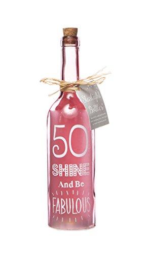 Boxer Gifts SB1250 Light-Up LED 50 Glass Starlight Bottle | Beautiful, Decorative Homeware Perfect...