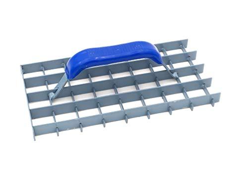 DEWEPRO Gitter-Rabot (Gitterrabot) - Putzhobel - Putzglätter - Gitterweite: 30x30mm - Abmessung: 285x145mm - Schleifraspel