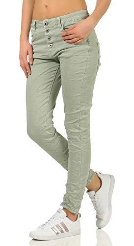 Karostar dames jeans stretch moderne Chino lange broek boyfriend broek heupjeans skinny 58