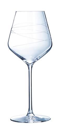 CRISTAL D'ARQUES P0858 (ECLAT) Coffret de 4 Verres à vin 38 cl-ABSTRACTION-LUMINARC, 380 milliliters
