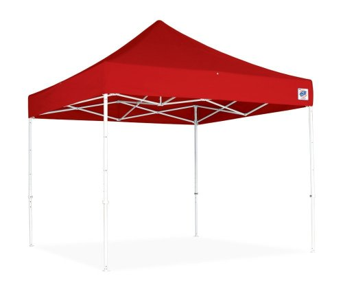 Hot Sale E-Z UP Eclipse II 10 by 10 Instant Shelter with Steel Frame, Red