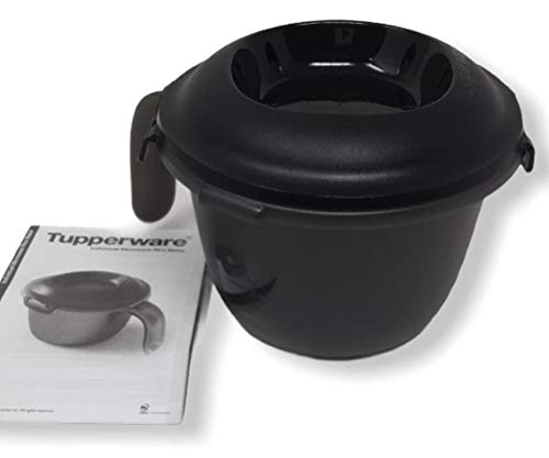 Tupper TUPPERWARE Mikrowelle Junior-Reis-Meister 500 ml Single Reiskocher schwarz 500ml Reis Bulgur Hirse