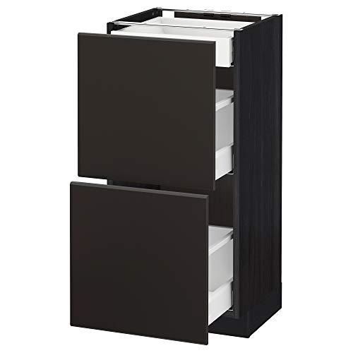 METOD/Maxim bashytt med 2 fronter/3 lådor 40 x 39,2 x 88 cm svart/Kungsbacka antracit