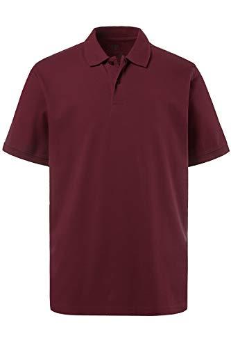 JP 1880 Herren, Poloshirt , Halbarm, Unifarben, Farbe: Aubergine, Gr. 2XL