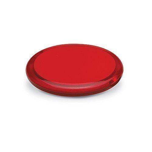 eBuyGB dames handtas cosmetica dubbelzijdig vergrootglas compact make-up spiegel, rood, 10 stuks