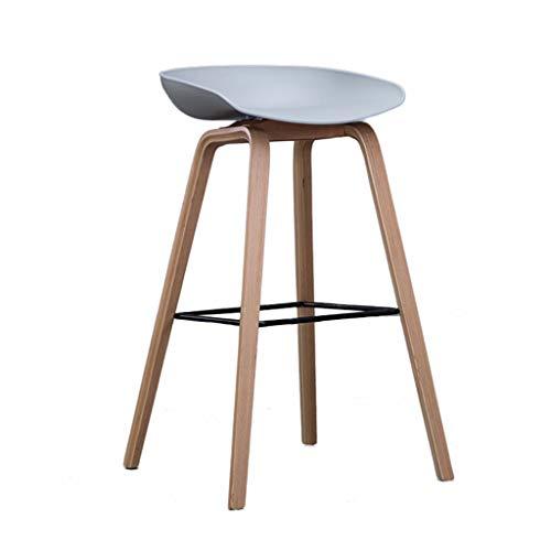 Tabouret haut en bois massif, couleur créative Bar Lounge Lounge Chair Multifonction Bar Counter Lounge Balcon Extérieur Chaise (Couleur : G, taille : 45 * 51 * 75cm)
