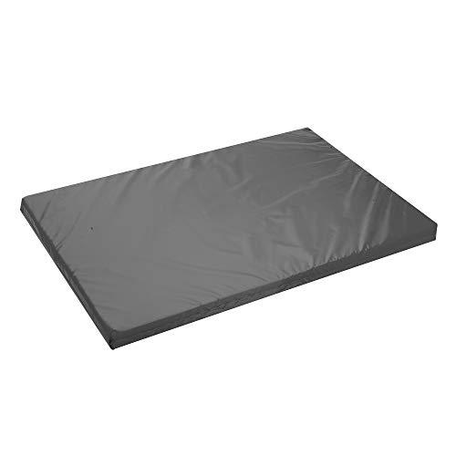 Alfombrilla impermeable para jaula de perro aprobada por FR para colchón resistente al agua, para exteriores, 108 x 72 x 5 cm, color negro