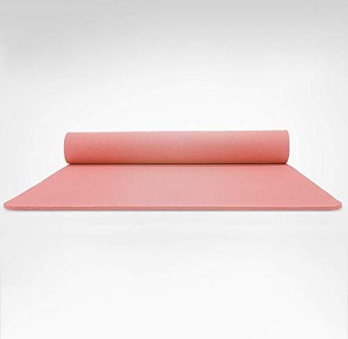 No brand Yoga Mats, Sport Indoor Yoga Mat, Fitness Wast insapore Mat Addensare Estendere Materassino Ginnico Anti-Slip Verde Mano Portatile e conveniente