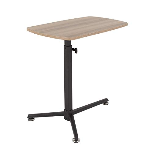mahara Side Laptop Table, adjustable height, perfect for home working, easy assembly, grey oak effect