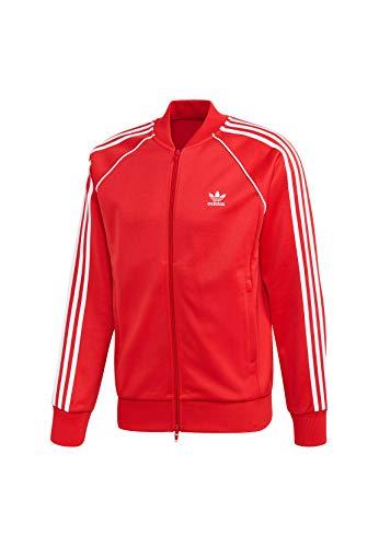 adidas SST TT, Felpa Uomo, Lush Red, S