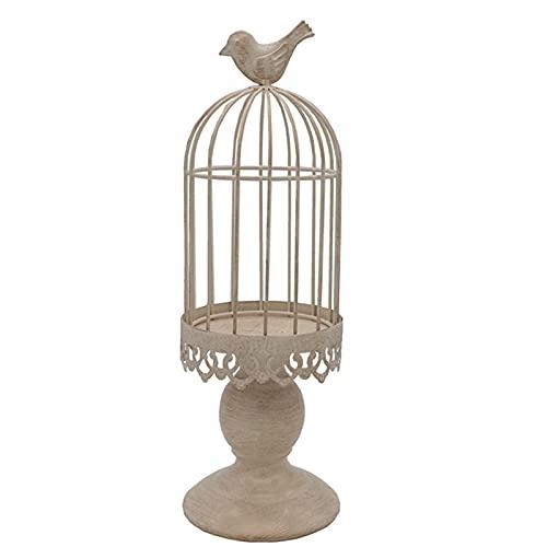 siqiwl Candelabros, regalos jaula de pájaros, portavelas vintage, centro de mesa de...