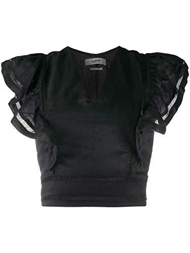 Luxury Fashion   Isabel Marant Étoile Dames HT164220P025E01BK Zwart Linnen Blouses   Lente-zomer 20
