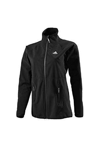adidas Damen Windproof Fleece Jacket Fleecjacke, Farbe:Black, Größe:S
