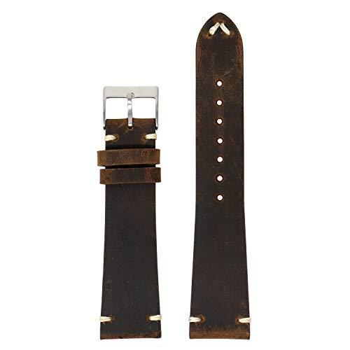 Correa de reloj de liberación rápida de piel envejecida, estilo vintage, elige tu color, 18 mm, 19 mm, 20 mm, 21 mm, 22 mm