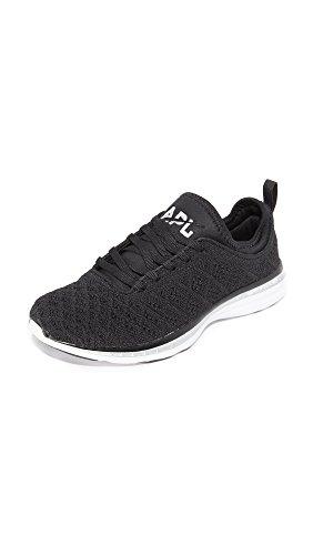 APL: Athletic Propulsion Labs Women's Techloom Phantom Sneakers, Black/Metallic Silver, 7 M US