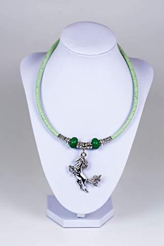 Syloschmuck ★ Damenkette ★ Halskette ★ Pferd ★ Kork ★ Weihnachtsgeschenk★ Handmade★ Geschenk für Sie