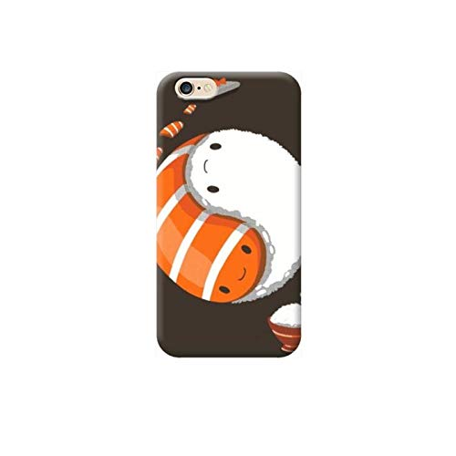TheBigStock Cover Custodia per Tutti Modelli Apple iPhone x 8 7 6 6s 5 5s Plus 4 5c TPU B26 - AAB 07 Yin Yang Sushi, iPhone 6