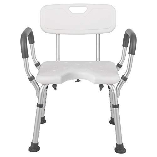 介護用お風呂椅子 シャワーチェア 風呂イス 背もたれ 肘掛け付き 工具不要 高さ6段階調節可能 お風呂イス 組み立て簡単 介護用品 お風呂用品(タイプ3)