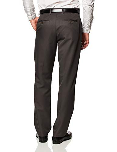 Amazon Essentials Slim-Fit Flat-Front Dress Pants, Gris Oscuro, 35W x 32L