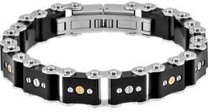 Stainless Steel-LINE BRACELET RUBBER Indefinitely SCREWS W Deluxe