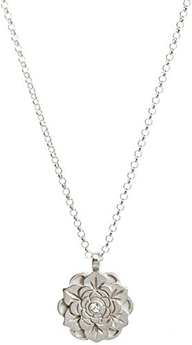 Dogeared Beautiful Beginnings Sterling Silver Flower Lotus Pendant Necklace