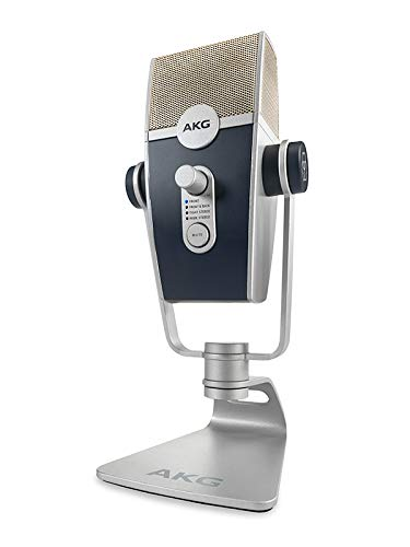 AKG Pro Audio Lyra Ultra-HD, Four Capsule, Multi-Capture Mode, USB-C Condenser Microphone for Recording and Streaming