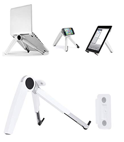 HFGHGDF Alloy Laptop Holder Cooling Portable Ventilated Stand Lightweight Desktop Ergonomic Space-Save Notebook For Computer Tray Lifting Raiser(White)