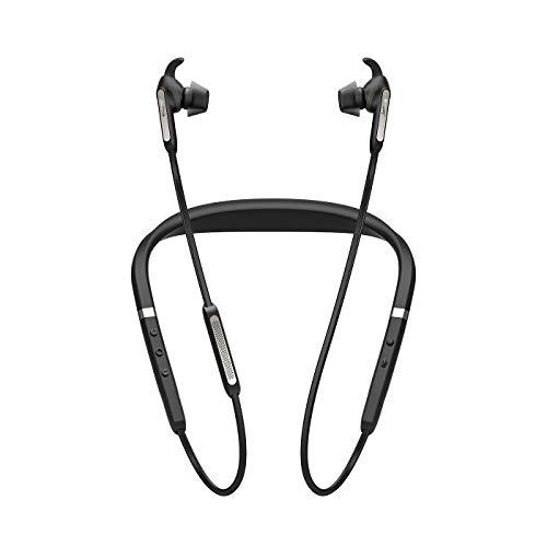 Jabra Elite 65e Bluetooth In-Ear Kopfhörer mit ANC (Wireless, professionelles Active Noise Cancellation, Nackenbügel, Sprachsteuerung auf Knopfdruck, Alexa, Siri und Google Assistant) titan schwarz