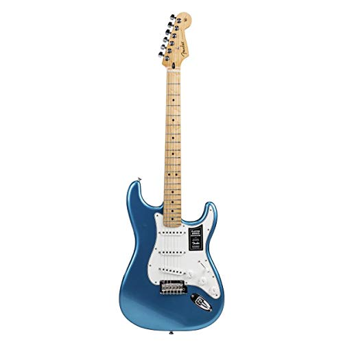 """Fender Limited Edition Player Stratocaster Electric Guitar, 22 Frets, Modern""""C"""" Shape Neck, Maple Fingerboard, Gloss Polyester, Lake Placid Blue"""
