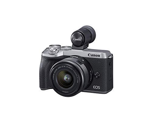 Canon EOS M6 Mark II ミラーレスデジタルコンパクトカメラ + EF-M 15-45mm F/3.5-6.3 IS STM + EVFキット シルバー