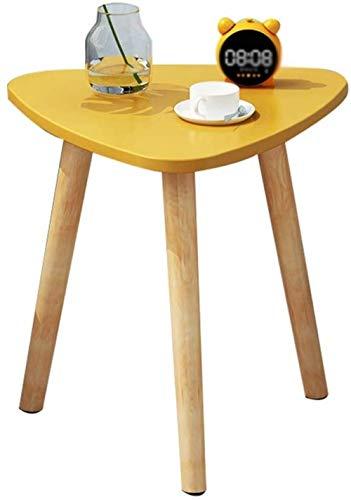 Mesa de mesa triangular creativa, patas de mesa de madera, mesa de centro estable y duradera, pequeño apartamento, sala de estar, accesorios decorativos mesa de negociación lisa (color: A)