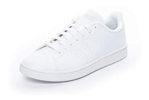 adidas Advantage Base, Sneaker Hombre, Cloud White/Cloud White/Raw White, 44 EU