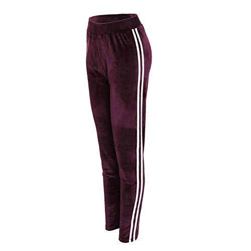 Femmes Velours (Velore) de Jogging Survêtement Pantalon Active Gym Yoga Fitness Bas 8-14 - Bordeaux, UK S/M (8-10)