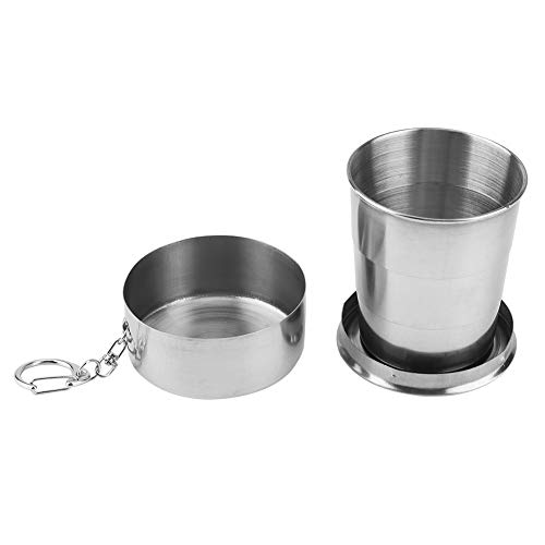 Taza plegable Taza plegable portátil duradera Peso ligero al aire libre para viajes Camping Senderismo(Three-section cup 150ml)