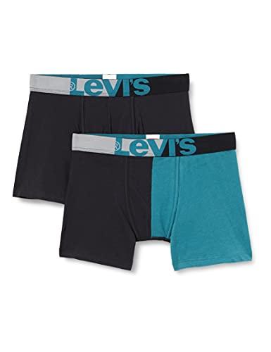 Levi's Mens Split Men's Briefs Boxer Shorts, Black Combo, XL
