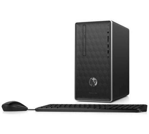 HP Pavilion 590-p0006na Mini Desktop PC Intel Core i3-8100T, 4GB RAM, 1TB HDD, DVDRW, Windows 10 Home - 3ZZ31EA#ABU