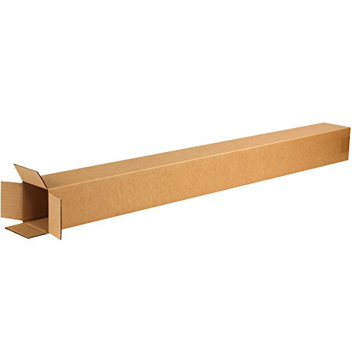 BOX USA B4448 Tall Corrugated Boxes, 4'L x 4'W x 48'H, Kraft (Pack of 25)