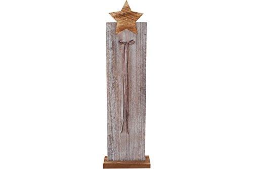 Posten Börse Deko Holzsäule mit Stern 90cm hoch Weihnachtsdeko