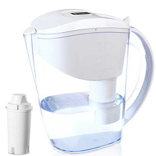 Eco4us - Alkaline Water Pitcher, 3.5L Capacity, 2.0L Filtered Capacity BPA Free, Filtered Water Pitcher, Filter Included