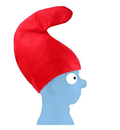 1 x Zwergenmütze Kinder Erwachsene Mütze rot Zwerg Fastnacht Fasching Karneval fürs Kostüm Schlumpf Kindermütze für Kopfumfang ca. 57 cm - LxB ca. 29 cm x 28,5 cm Verein Gruppe