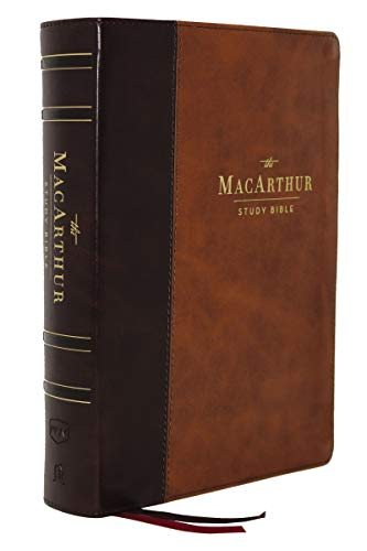The NKJV, MacArthur Study Bible, 2nd Edition, Leathersoft, Brown, Comfort Print: Unleashing God's Truth One Verse at a Time