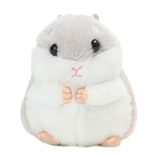 HEITIGN Hamster Puppe, Niedliches Plüschtier, Hamster Schlüsselanhänger Kuscheltiere Schlüsselanhänger Charm Handtasche Anhänger, Grau
