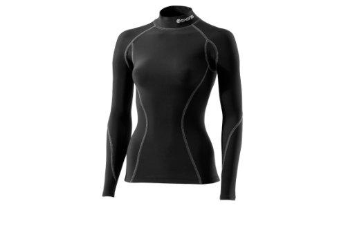 SKINS Snow Thermique col Montant Haut de Compression pour Femme XS Black/Silver