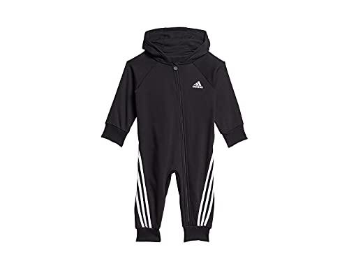 adidas I Fi Onesie Set Sportivo, Nero/Bianco, 3 anni Unisex-Bimbi