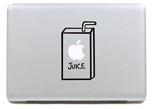 Netspower® Monogramm Design Vinyl Aufkleber Aufkleber Power Up Kunst Schwarz für Apple MacBook Pro/Air 33cm 38,1cm Zoll–Apple Juice 2