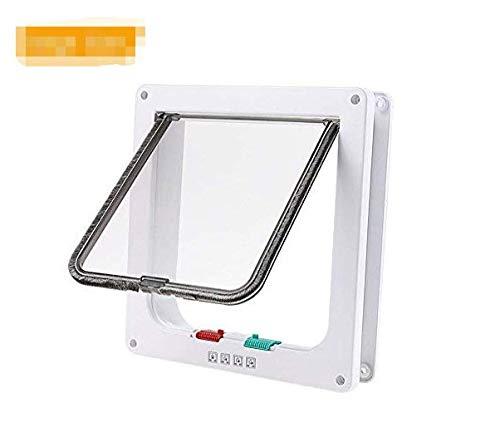 MFEI Pet Door, energieeffizient, Extreme Wetter Haustier Tür,, isolierend, Wetterfest, 4 Flap System Large Size