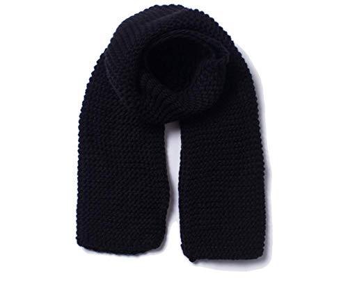 YUAYUAYUA Dicker Wolle handgemachte einfarbige Strickschal Plaid Schals Wickelschal Dicker Frauenschal Warme Kaschmirwolle Baumwollmischung Gebürsteter Poncho-D