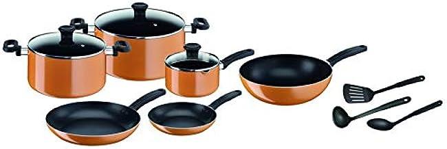 Tefal Prima Cooking Setof 12 Pieces, Orange/Black, Aluminum
