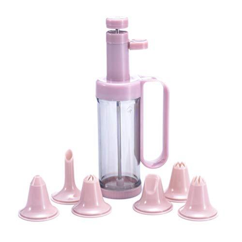 UPKOCH Gebäckpressen Set Plätzchen Keks Presse Maschinen Gebäckspritze mit 6 Spritzdüsen Kuchen Dekorieren Werkzeuge für das Schönste Gebäck und Cookies